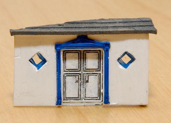 Der Hauseingang in mehrfacher Vergrößerung
