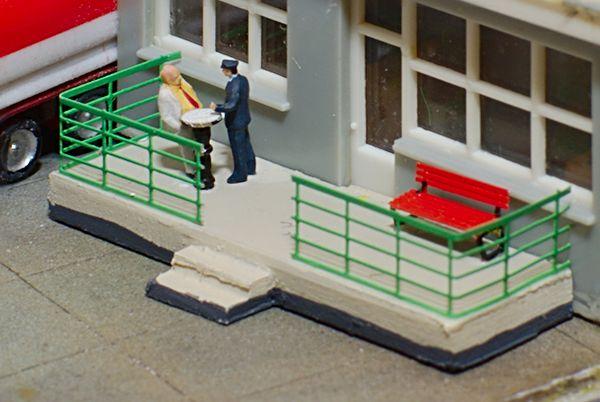 Der fertige Balkon mit Treppe