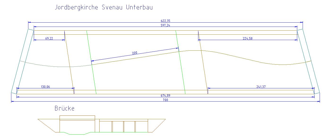 Der erste Plan zum Modul Svenau