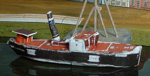 Schiff im 1:4-Modell